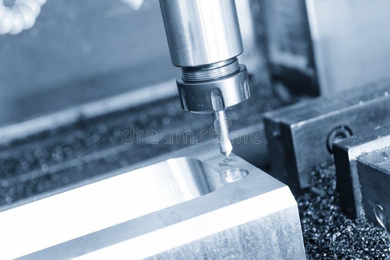 Centrum świderu narzędzie na CNC mielenia maszynie obraz stock