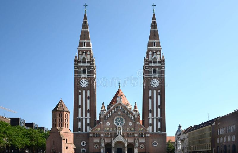 Centrum av den Szeged Ungern royaltyfri fotografi