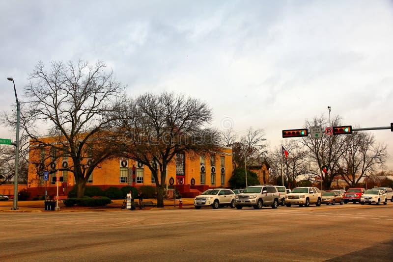 Centrum av Fredericksburg, Texas, USA arkivbild
