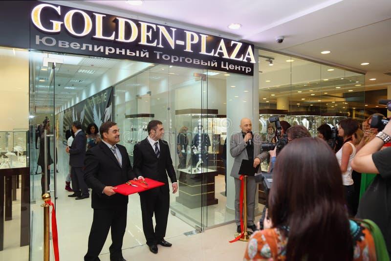centrum biżuterii otwarcie specjalizujący się handel zdjęcia royalty free