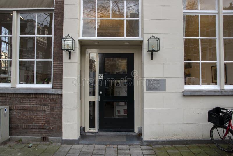 Centrum for Book Publishers i Amsterdam Nederländerna 2019 arkivfoto