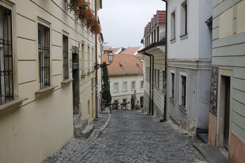 In centrum of Bratislava Old Town. Bratislava, Slovakia. November 5, 2017. In centrum of Bratislava Old Town stock photography