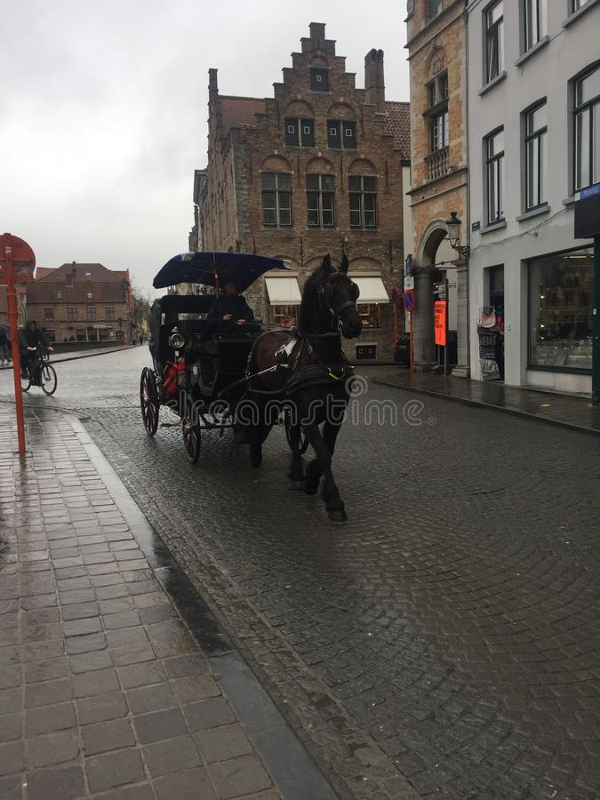 Centrum Bruges Belgia obraz royalty free
