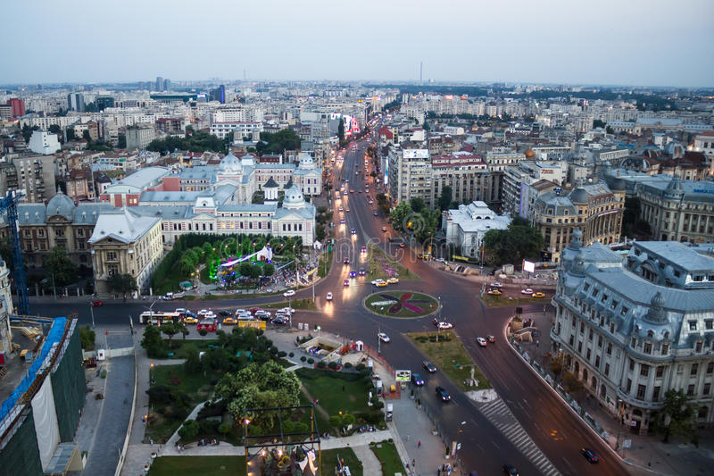 Centrum Bucharest obraz stock