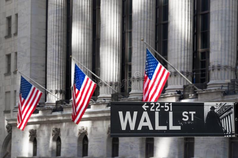 Centrum Finansowe na Wall Street obraz royalty free