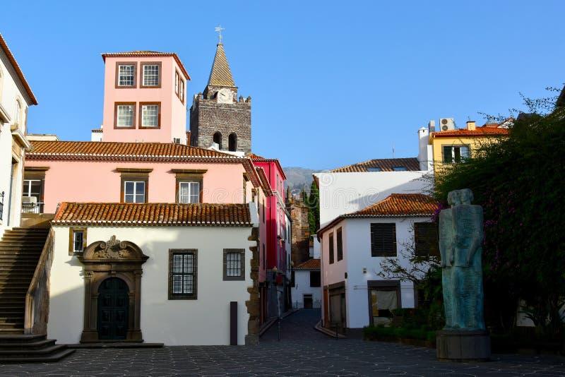 Centrum Funchal, stolica madera zdjęcia royalty free