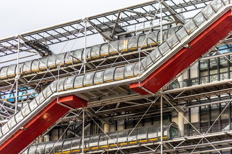 Centrum Georges Pompidou in Parijs, Frankrijk stock afbeelding