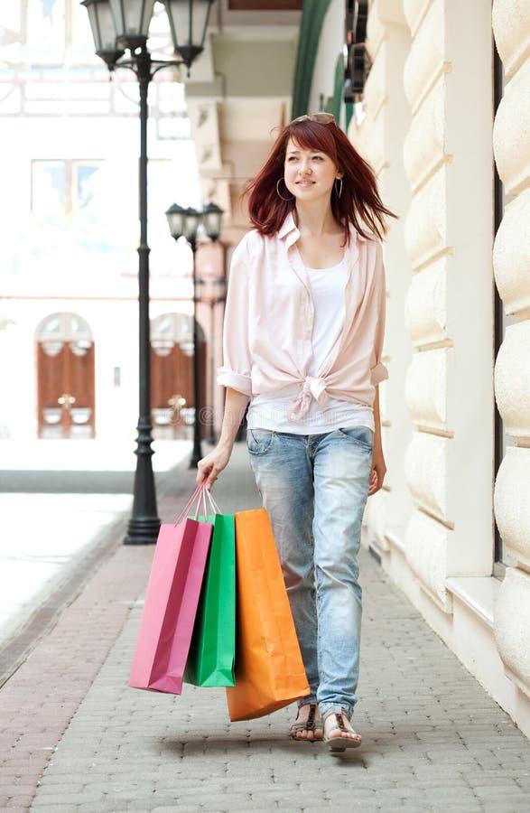centrum handlowego zakupy kobieta obraz royalty free