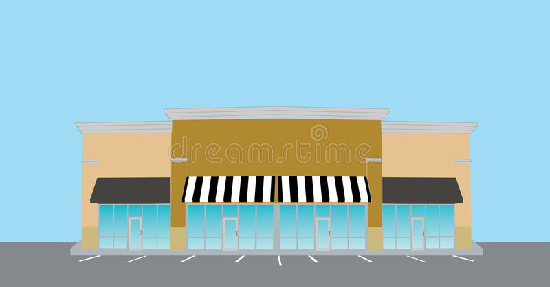 centrum handlu detalicznego pas royalty ilustracja