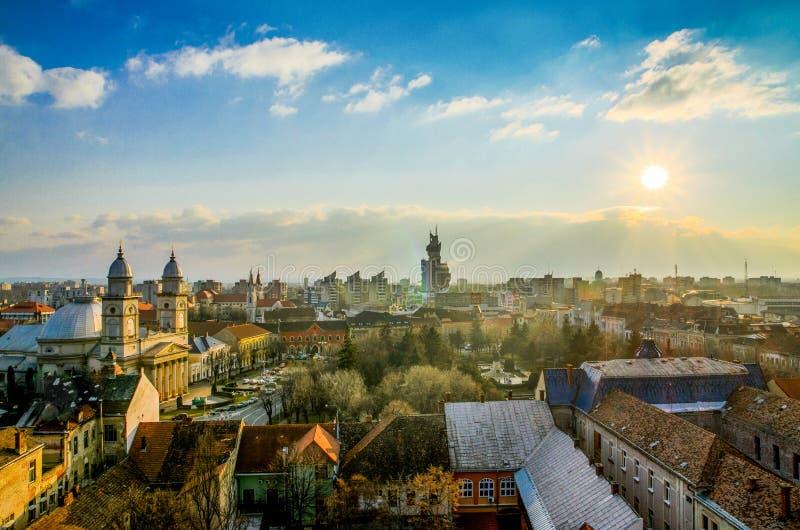 Centrum historyczne Satu Mare, Rumunia obraz royalty free