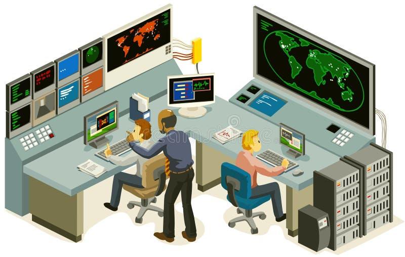 centrum kontrola ilustracja wektor