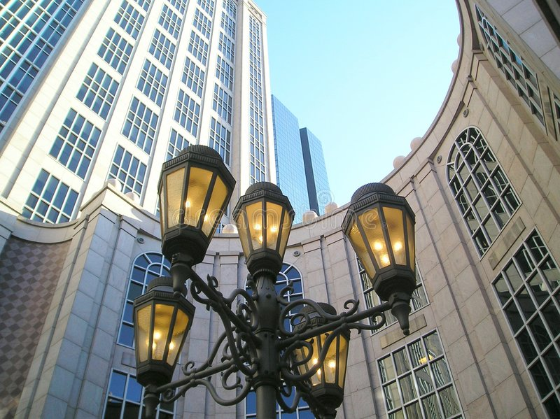 centrum lampy żelaza fotografia stock