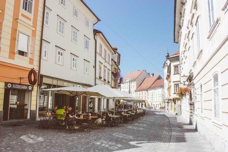 centrum Ljubljana obrazy royalty free