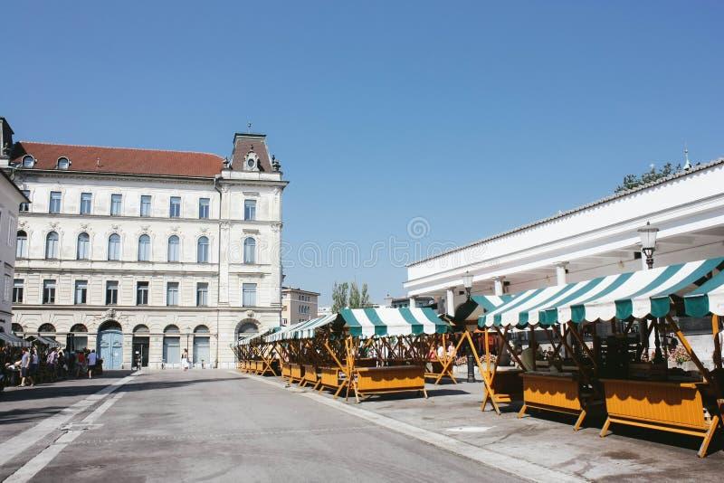 centrum Ljubljana fotografia stock