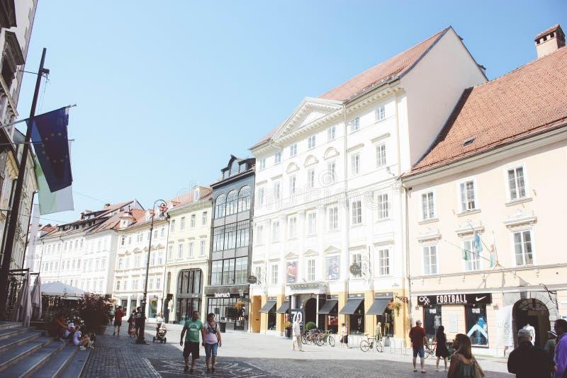 centrum Ljubljana zdjęcia royalty free