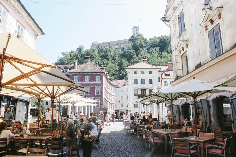 centrum Ljubljana zdjęcie royalty free