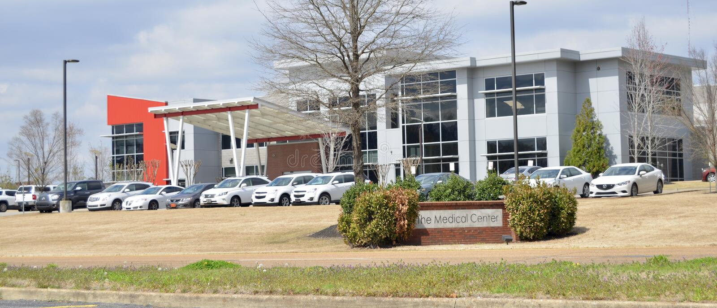 Centrum Medyczne, Jackson, Tennessee obraz stock