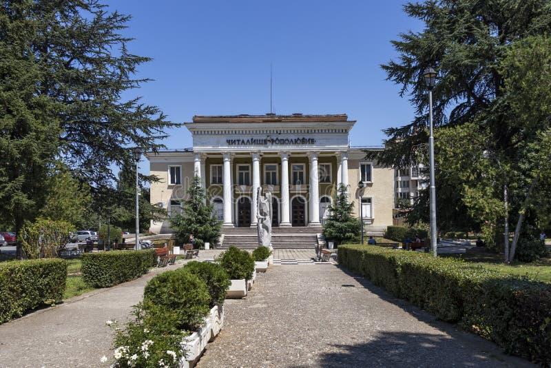 Centrum miasta Asenovgrad, Bułgaria obrazy stock