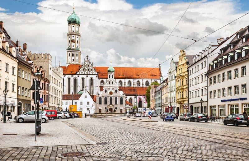 Centrum miasta Augsburski obraz royalty free