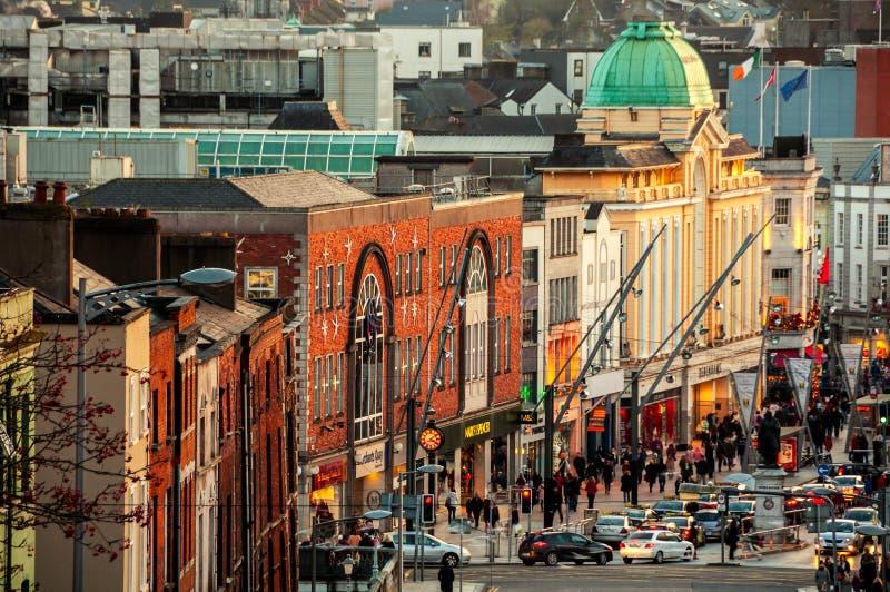 Centrum miasta korek, Irlandia zdjęcie royalty free