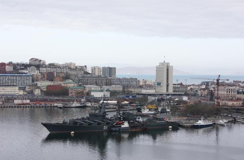 Centrum miasta w Vladivostok, Rosja zdjęcie stock