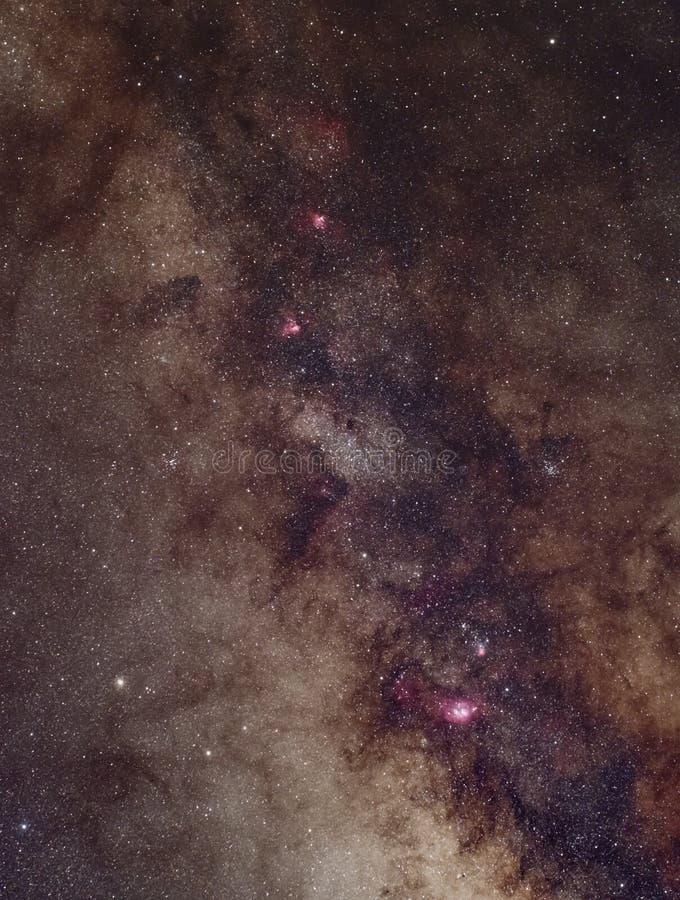 Centrum milky sposobu galaxy obraz royalty free