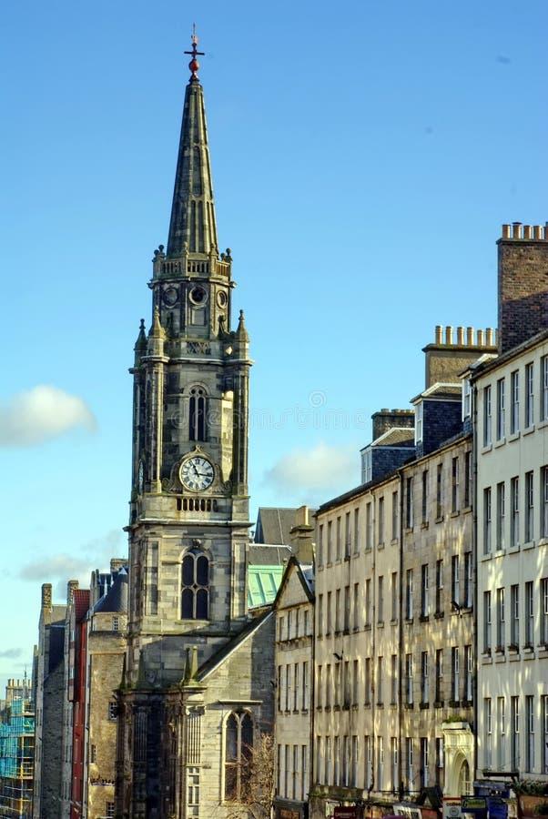 Centrum na Królewskiej milie w Edynburg zdjęcie royalty free