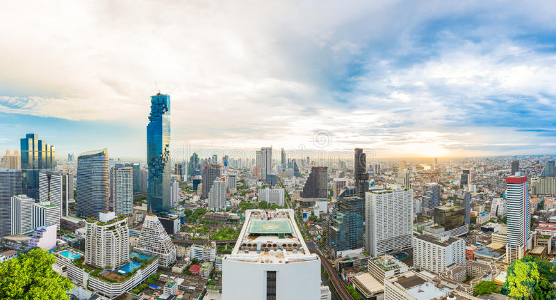 Centrum på Bangkok, Thailand royaltyfri fotografi