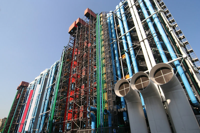 centrum Pompidou obrazy stock
