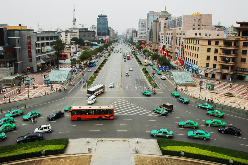 centrum porcelanowy miasto Xian fotografia royalty free