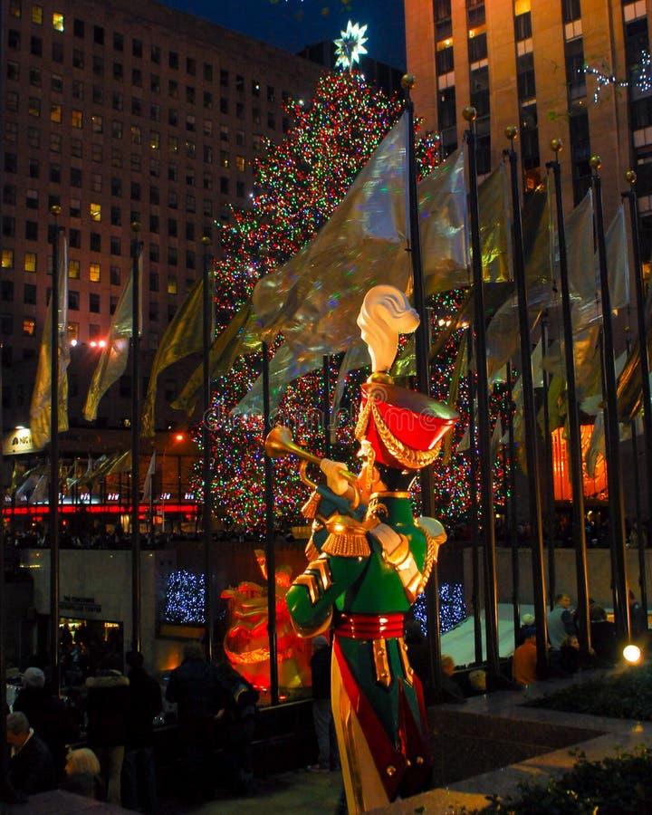 30 Centrum Rockefeller bij de Tijd van Kerstmis royalty-vrije stock fotografie
