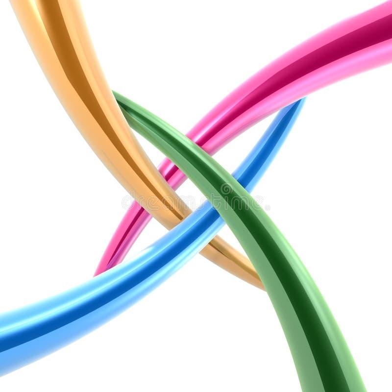centrum rury podłączeniowe 3 d ilustracja wektor