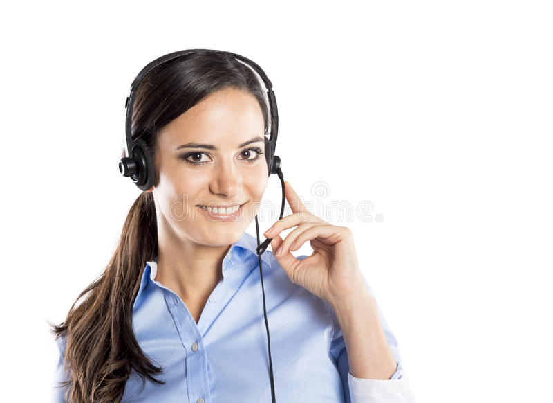 Centrum telefoniczne kobieta fotografia royalty free