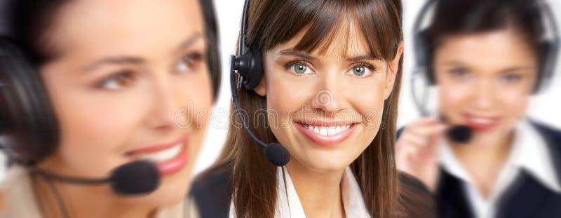 centrum telefoniczne operatorzy zdjęcia stock