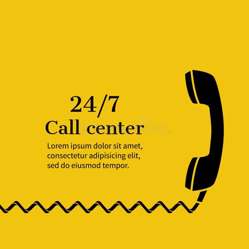Centrum telefoniczne, poparcie ilustracji
