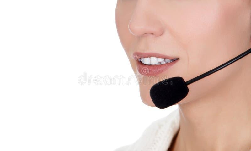 Centrum telefoniczne rozochocony operator obraz stock
