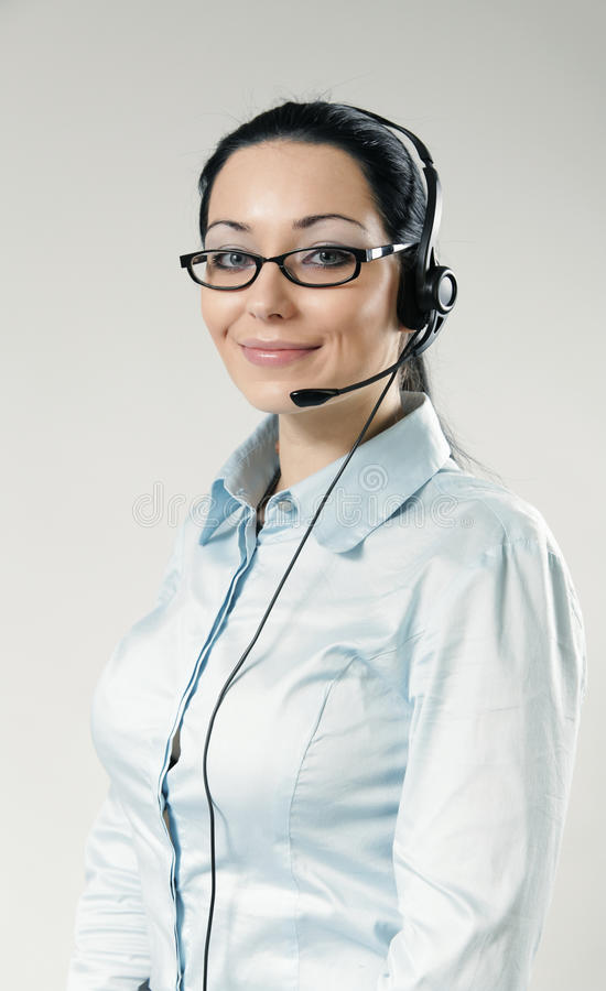 centrum telefonicznego operatora portreta seksowny ja target50_0_ obraz royalty free