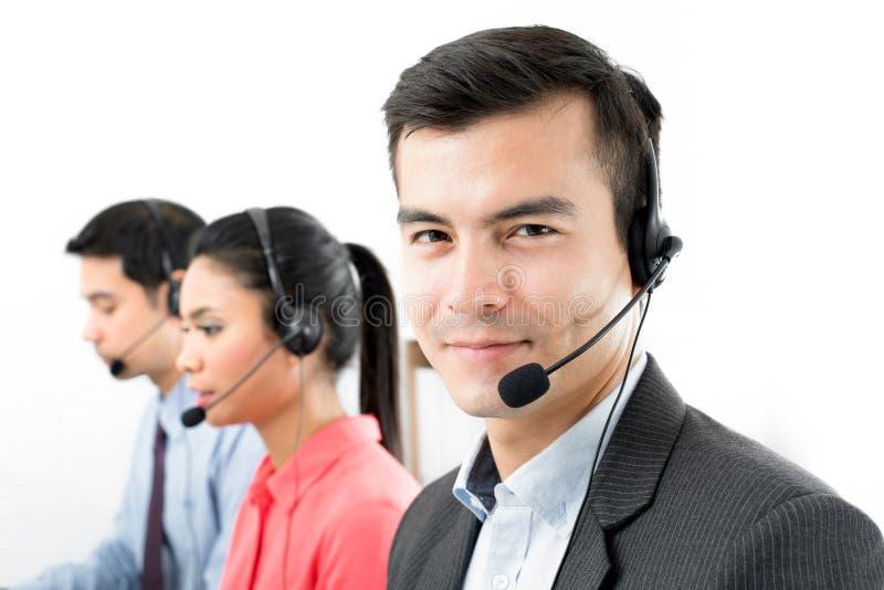Centrum telefonicznego telemarketer drużyna zdjęcia royalty free