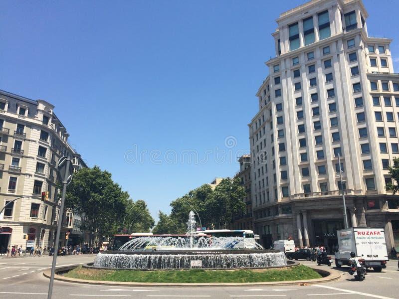 Centrum van Barcelona stock foto