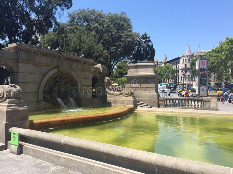Centrum van Barcelona royalty-vrije stock afbeelding