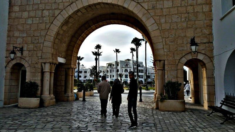 Centrum van de Sousse monastir het antic stad Tunesië de Sahel stock foto's