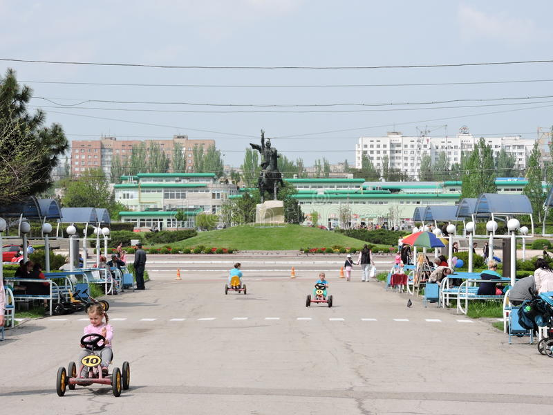 Centrum van de stad Tiraspol royalty-vrije stock fotografie