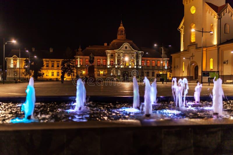 Centrum van de stad van Zrenjanin royalty-vrije stock foto's