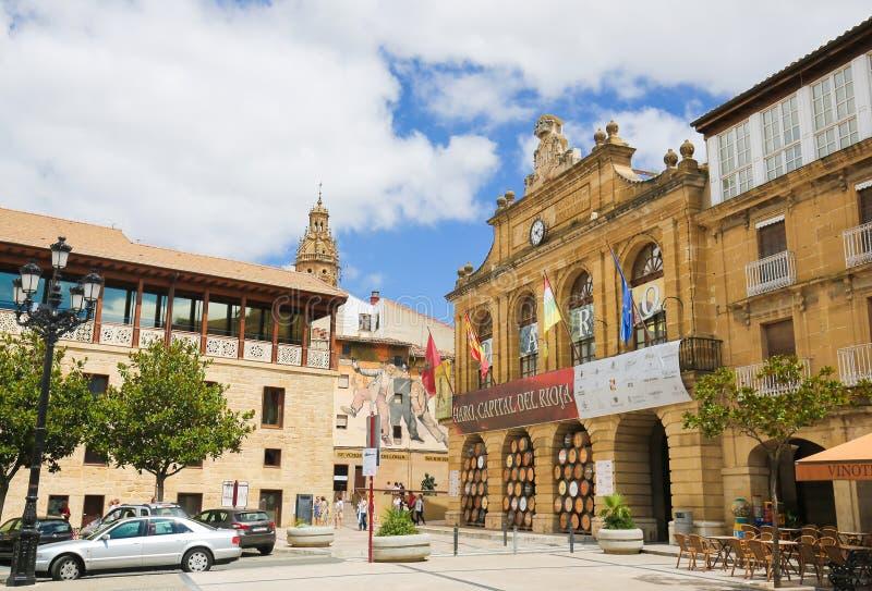 Centrum van Haro in La Rioja, Spanje stock fotografie