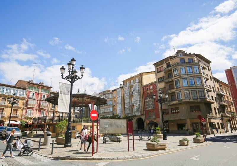 Centrum van Haro in La Rioja, Spanje royalty-vrije stock afbeeldingen