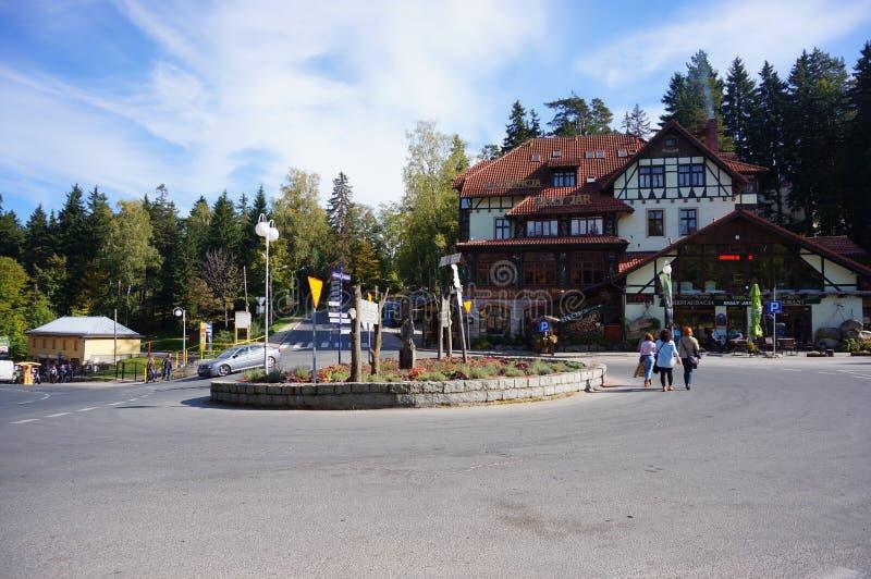 Centrum van Karpacz royalty-vrije stock foto's