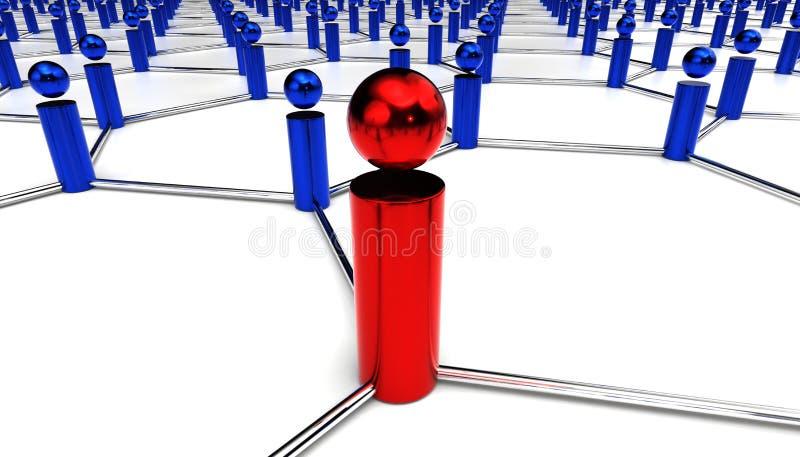 Centrum van netwerk stock illustratie
