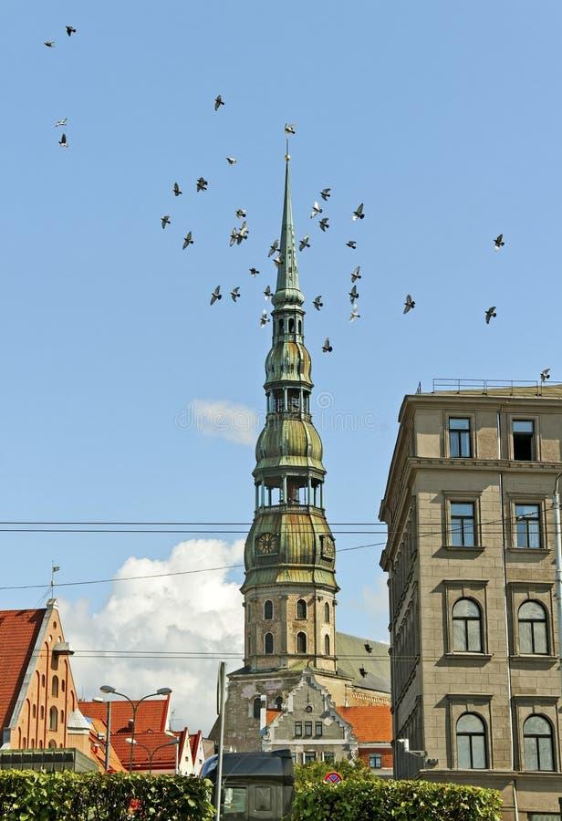 Centrum van Riga. royalty-vrije stock foto