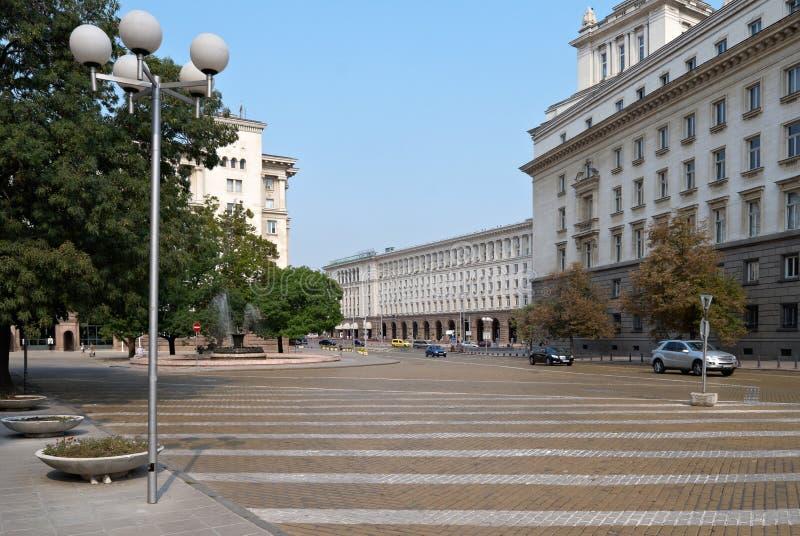 Centrum van Sofia, Bulgarije royalty-vrije stock foto