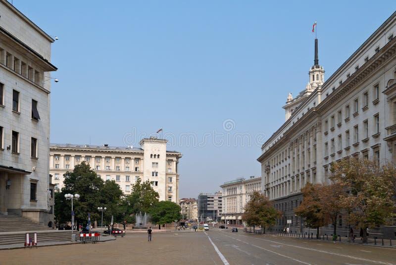 Centrum van Sofia, Bulgarije stock afbeeldingen